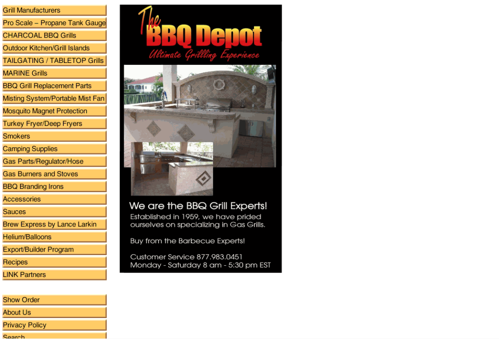 The BBQ Depot barbeque grills, barbecue parts, BBQ accessories